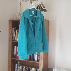 Turquoise casual jacket